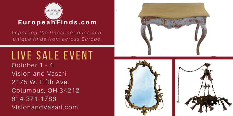 European Finds Sale Event Oct 1-4
