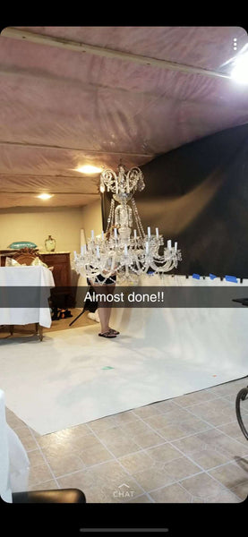 How to clean a crystal chandelier