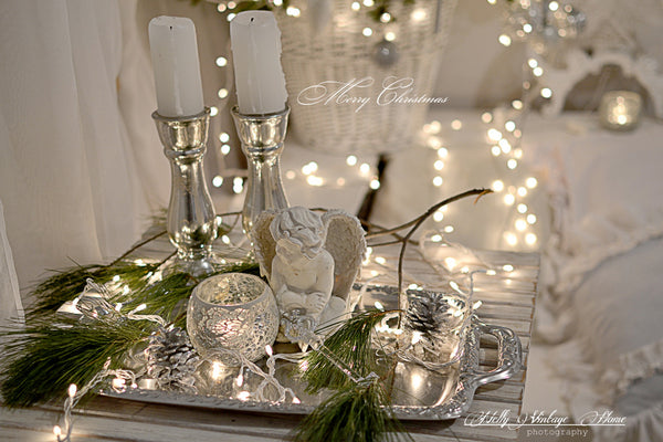 holiday silver vignette