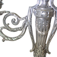 Antique Victor Saglier Art Nouveau Silver Plate Candelabras European Finds Arm Repair