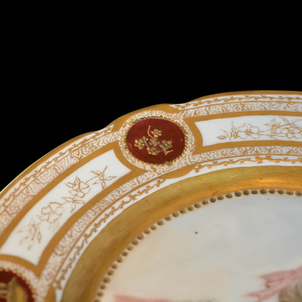 19th Century French Sevres Painted & Gilt Portrait Plate Haviland Numbered
