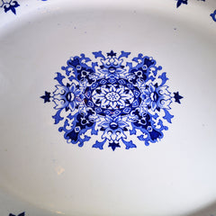 1880s Antique English Blue and White Platter