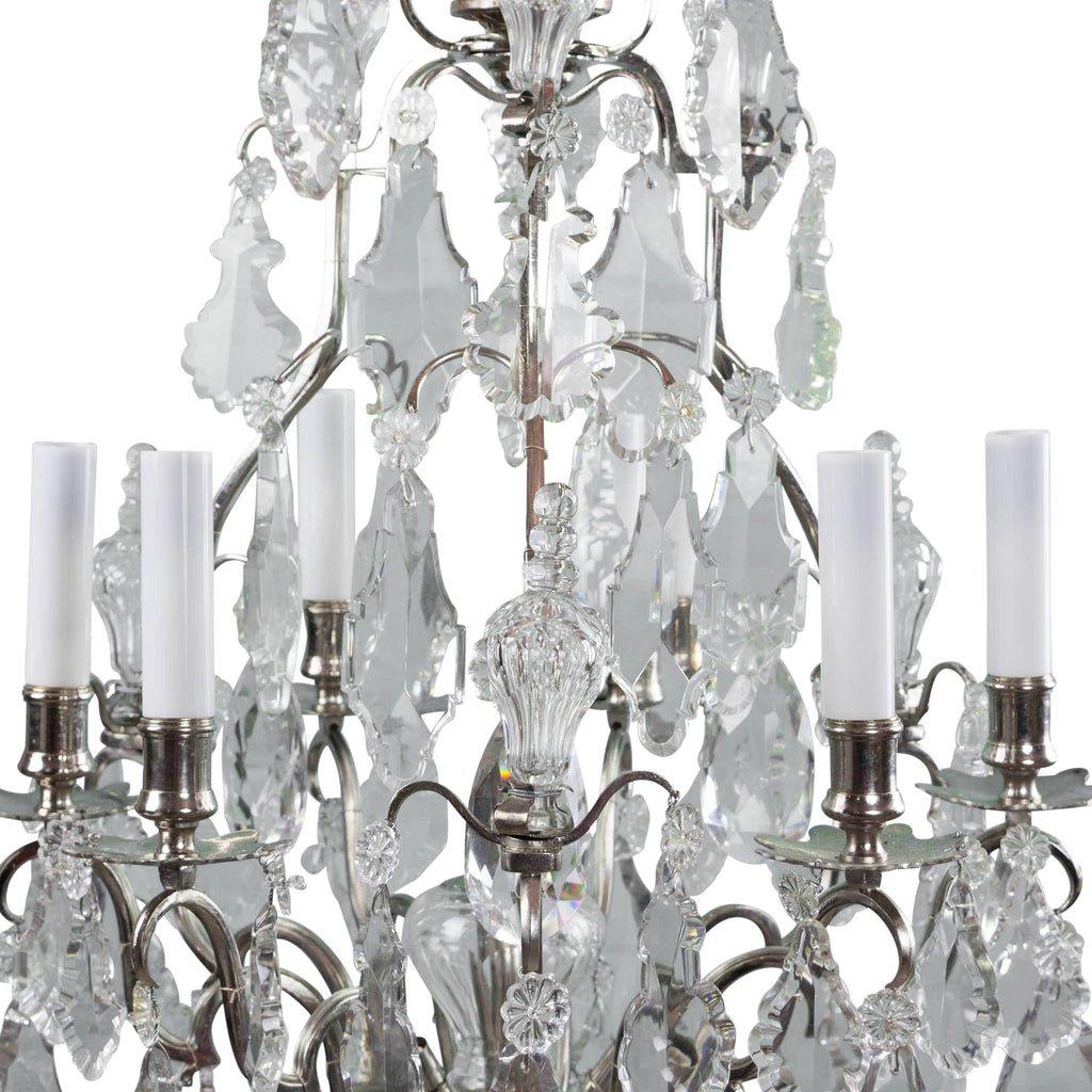 ... Antique 19th Century Large Baccarat Crystal Chandelier Base ... - Antique 19th Century Large Baccarat Crystal Chandelier
