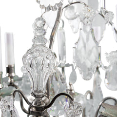 Antique 19th Century Large Baccarat Crystal Chandelier Spire