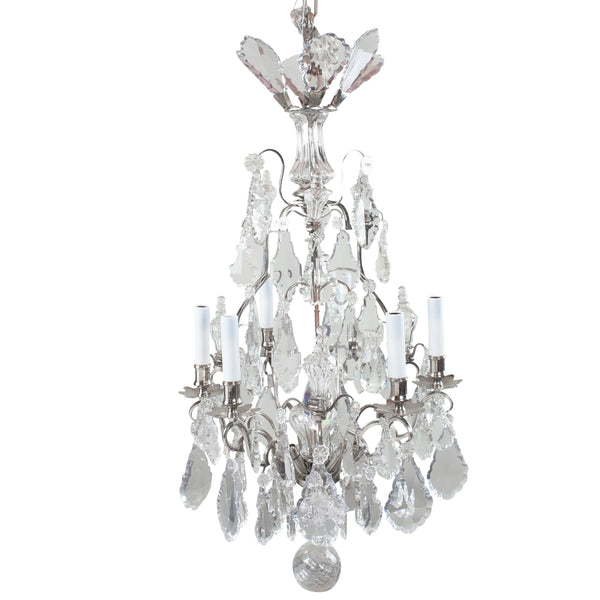 - Antique 19th Century Large Baccarat Crystal Chandelier