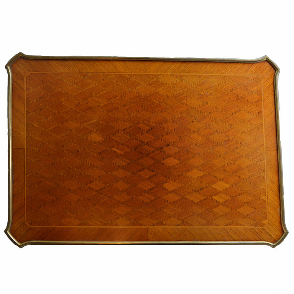 Antique Parquetry Occasional Table Top Detail