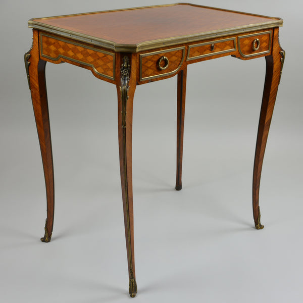 Antique Parquetry Occasional Table