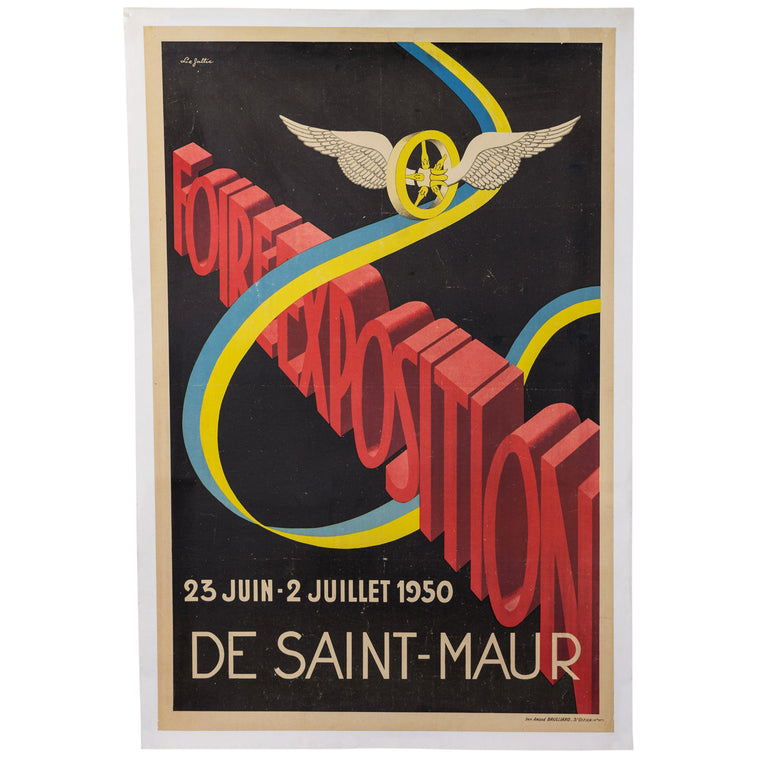 1950 French Foire Exposition Poster