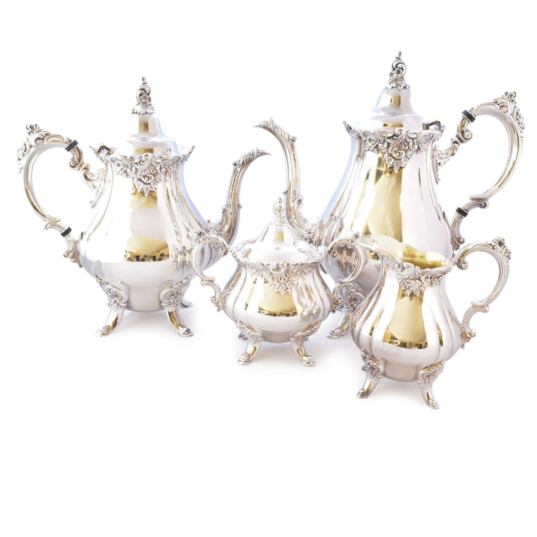 Wallace Baroque Silverplate Tea Service