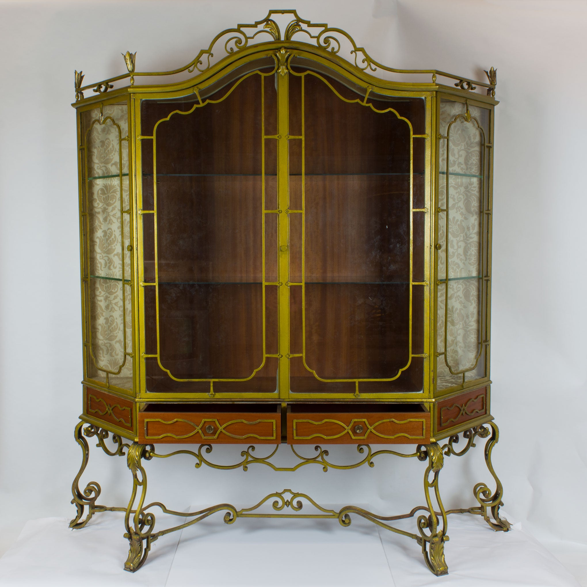 Vintage Art Deco Painted Ironwork Display Cabinet – European Finds