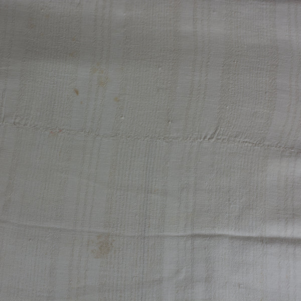 Handwoven Antique Coverlet of Linen and Cotton European Finds Close Up