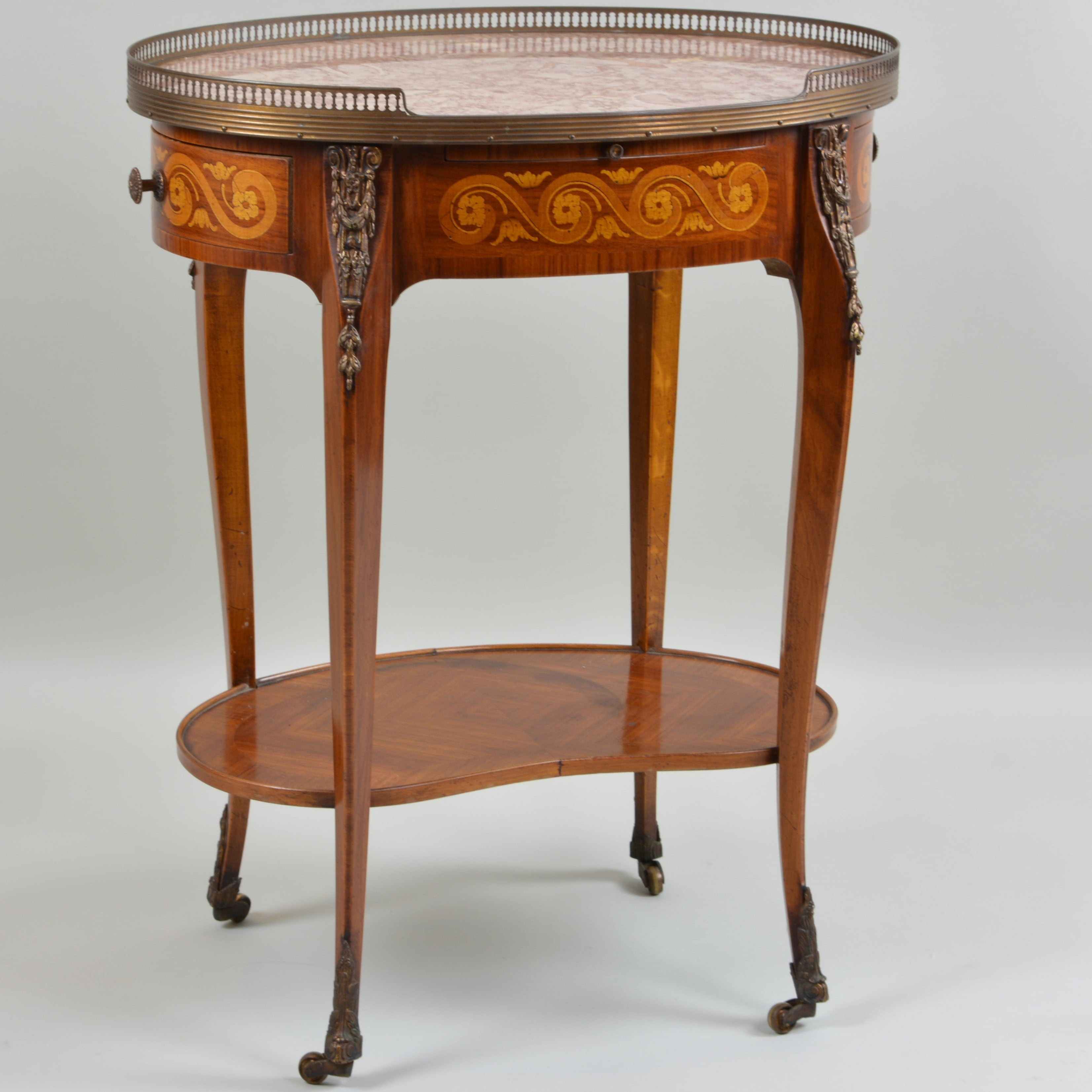 Early 19th Century Marble Top Oval Side Table