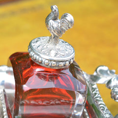 Antique Silver Inkwell