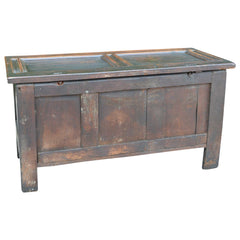 Antique English Carved Oak Two-Panel Blanket Chest European Finds Full