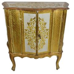 Antique Venetian Gold Dry Bar Cabinet