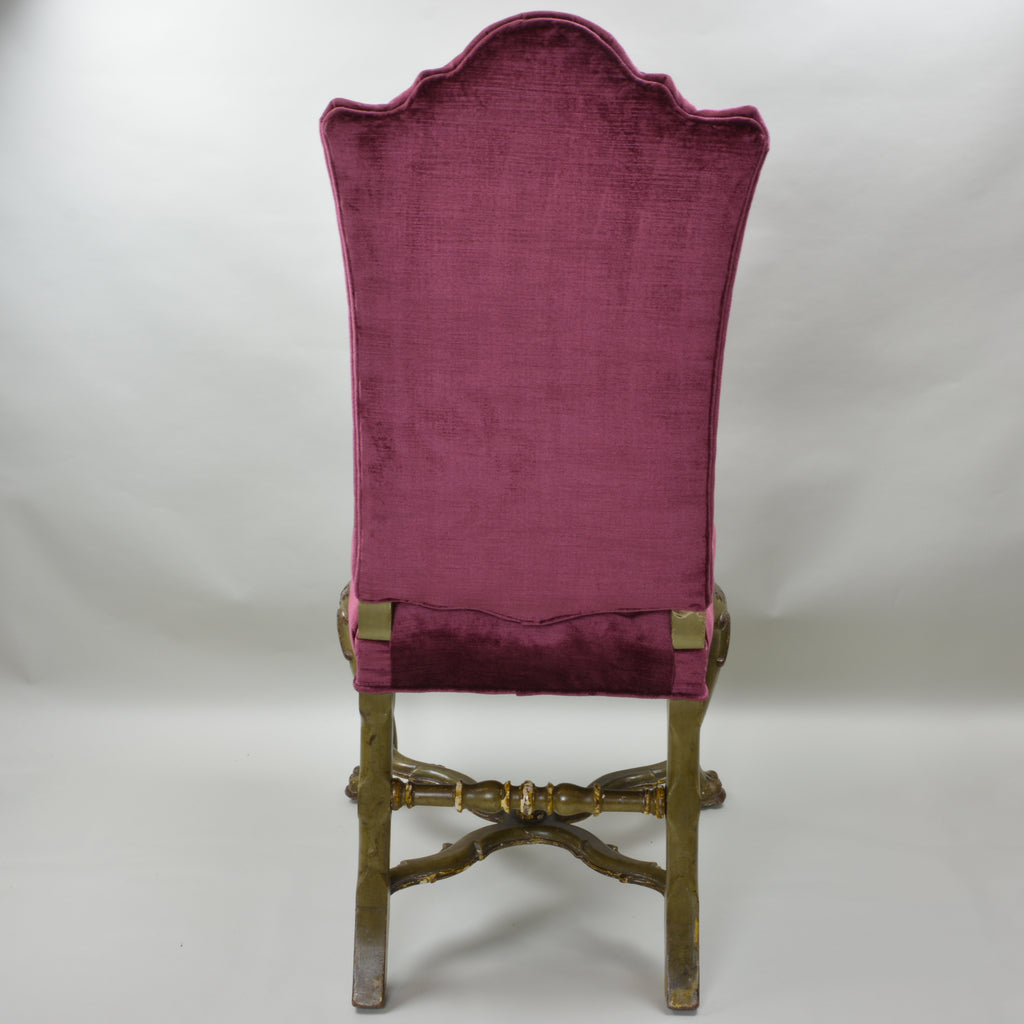 ... 18th Century Antique High Back Chair Set of 4 European Finds Back ... - 18th Century Venetian High Back Chairs Sourced By European Finds
