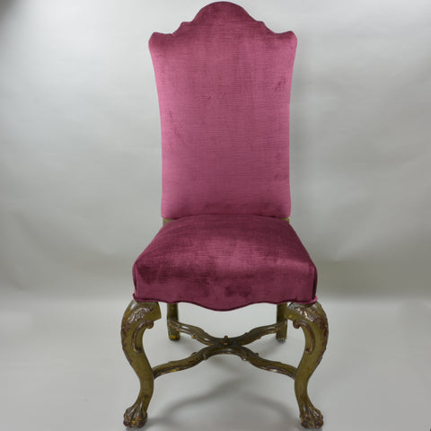 18th century venetian high back chairs - set of 4