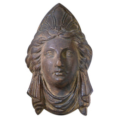 Antique Architectural Salvage Figural Bust Plaque