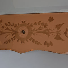 Venetian Art Deco Early 20th Century Cut Glass Mirror Copper Sides