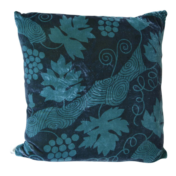 Designer Decorative Pillow Modern Grape Leaf Pattern