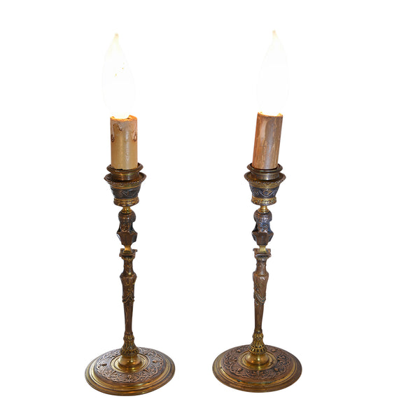 Small Bronze Barbedienne Lamps
