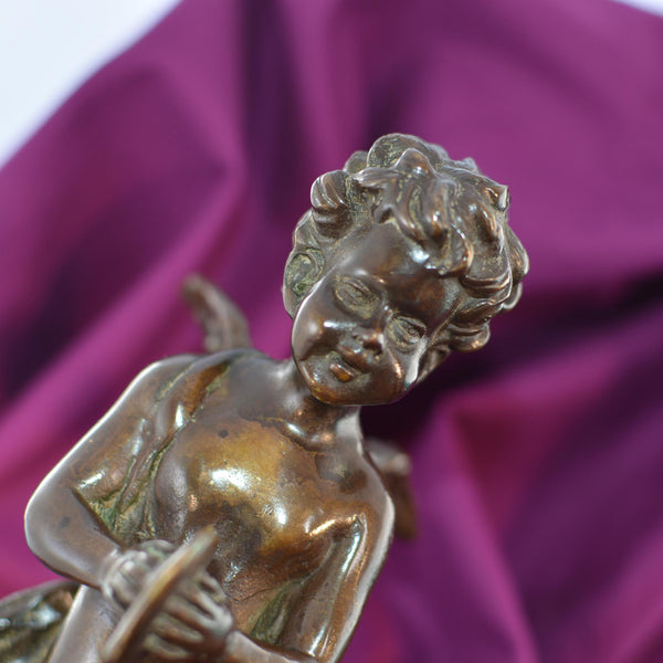 Bronze Cherub Sculpture Recast of Auguste Moreau