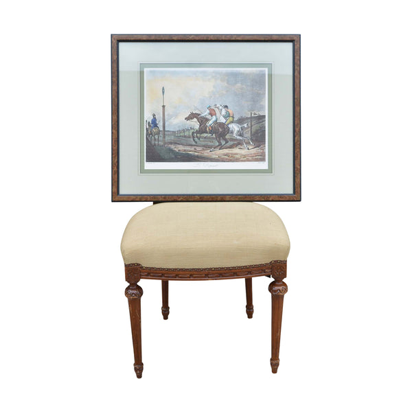 Framed Print of Carle Vernet's Le Depart European Finds Chair