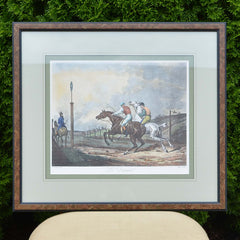 Framed Print of Carle Vernet's Le Depart European Finds