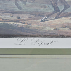 framed print of Carle Vernet's Le Depart Center