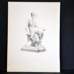 Antique Print IONE, engraved by T. W. Hunt from the Statue by T. N. MacLean