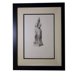 Antique Print Armed Science, engraved by E Stodart from the Statue in Marble by John Bell