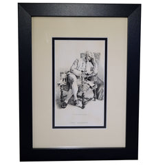 "Antique Print  -  ""The Student"""