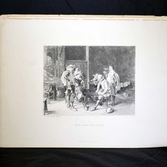 "Antique Print - ""The Game of Cards"""
