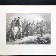 Set of Three Prints - Fall of Major Ringold, Gen'l Taylor at Buena Vista and Col Miller at the Battle of Chippewa