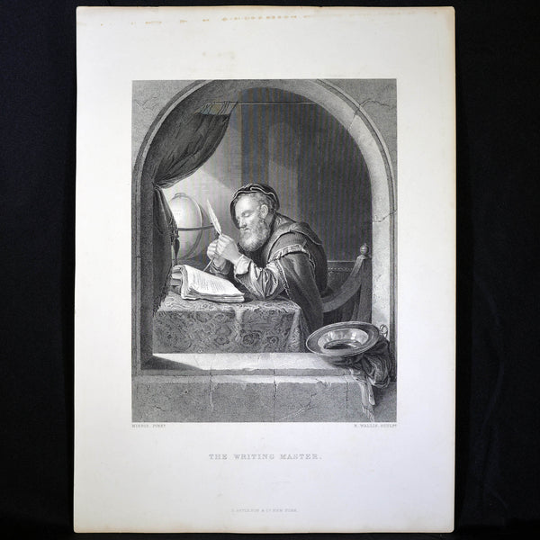Antique Print - The Writing Master