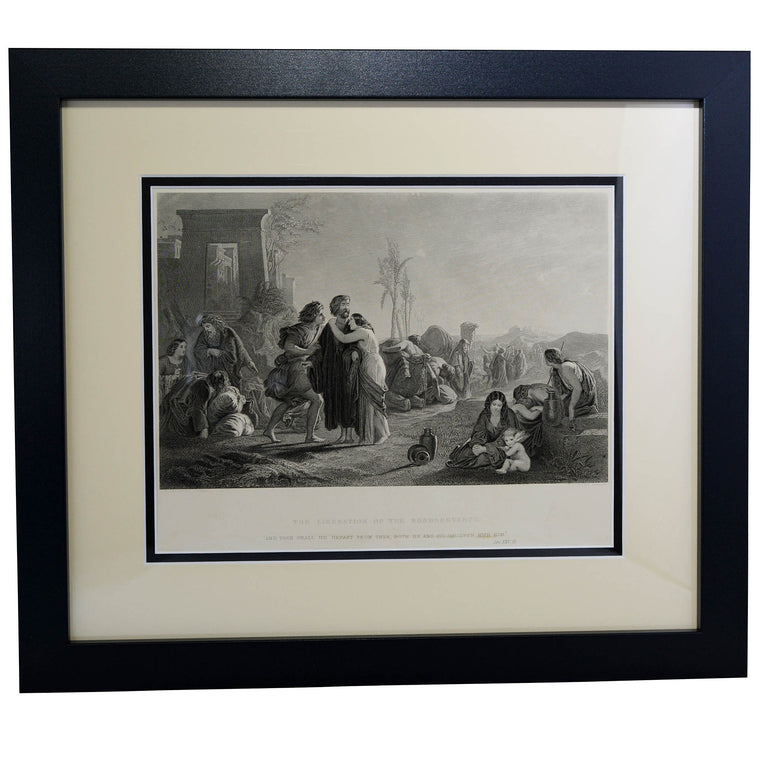 Antique Print - The Liberation of the Bondservants,