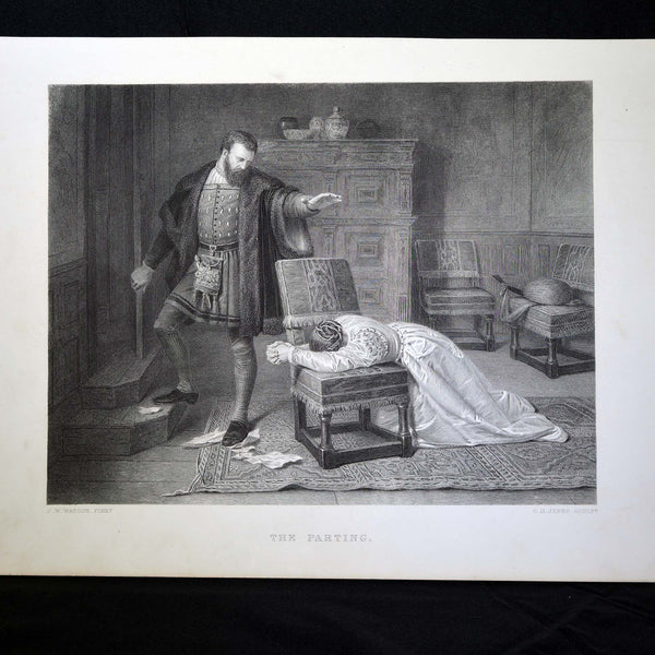 "Antique Print - ""The Parting"""