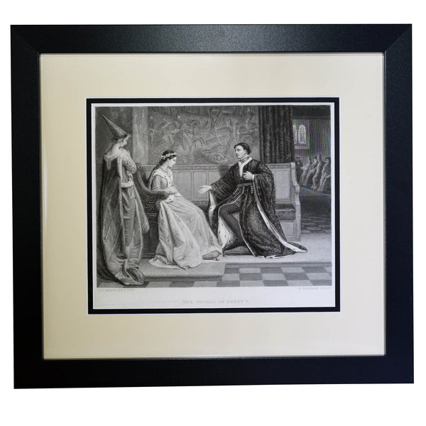 Antique Print - The Wooing of Henry V