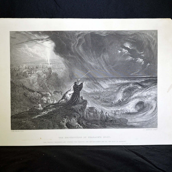"Antique Print - ""The Destruction of Pharaoh's Host"""