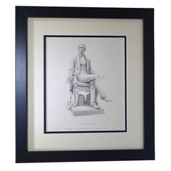 Antique Print - W. H. Seward engraved by W. Roffe from the Statue by Randolph Rogers