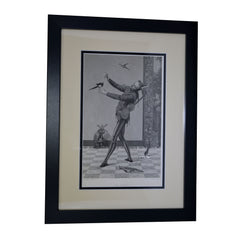 "Antique print - ""The Jester"""