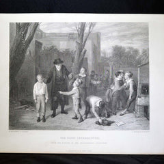 "Antique Print - ""The Fight Interrupted"""