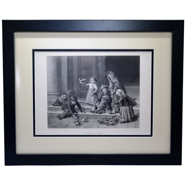 "Antique Print - ""Feeding Time"""