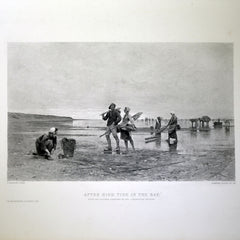 "Antique Print - ""After High Tide in the Bay"""