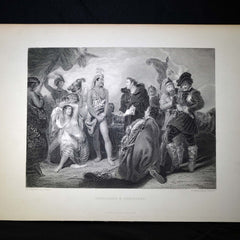 "Antique Print - ""Spaniards & Peruvians"""