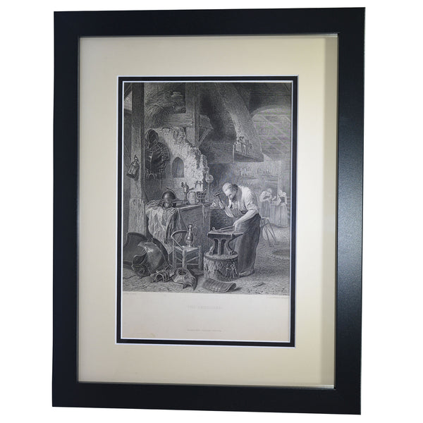 "Antique Print - ""The Armourer"""