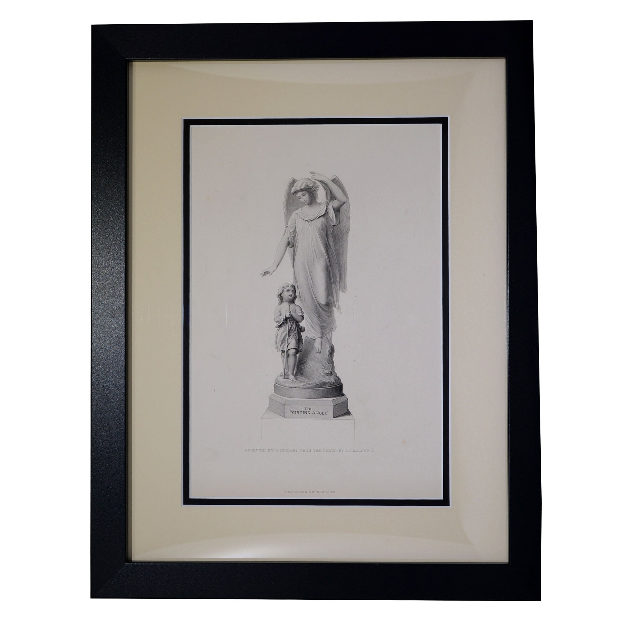 Antique Print The Guiding Angel, Engraved by G Stodart from the Group L. A. Malempre