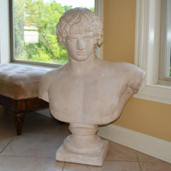 Floorsized Plaster Bust of Caesar or Apollo from the World's Fair 1964