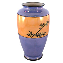 Hand Painted Asian Blue Bird Vase