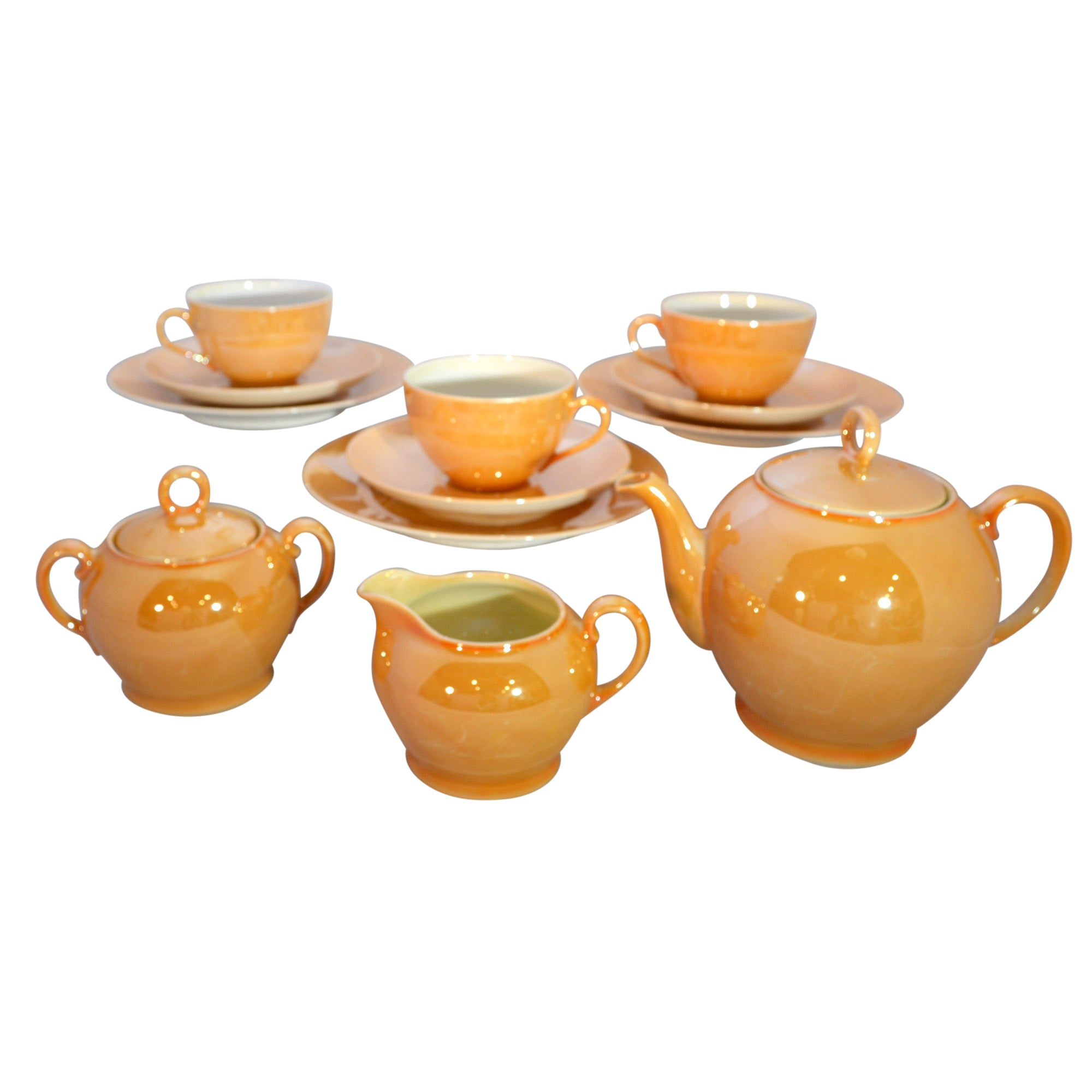 Gold Lusterware Tea Set Czech Slovakia